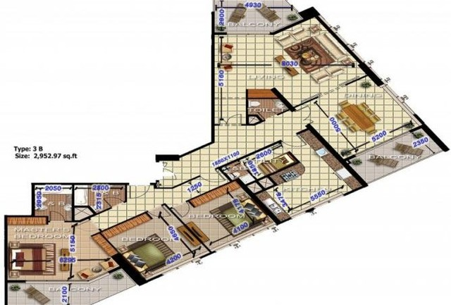 3 Bedroom Apartment For Sale In Al Fahad Tower 2 Al Fahad Towers By Landmark Properties