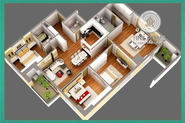 Image Of 2 Bedroom Apartment To Rent In Al Bahia Abu Dhabi At