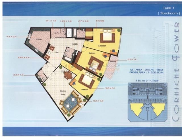 3 Bedroom Apartment To Rent In Ajman Corniche Residences Ajman Corniche Road By Map Real Estate