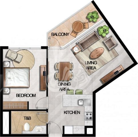 Image of 1 bedroom Apartment for sale in MAG 5 Boulevard, Dubai World Central at MAG 5 Boulevard, Dubai World Central, Dubai